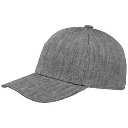 Stetson Perry Linen Cap Cap Baseballcap Sommercap Basecap Sommercap Basecap Basecap Baseballcap (L/58-59 - schwarz) -