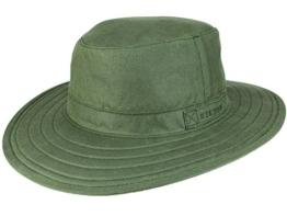 Stetson Pompano Traveller Waxed Cotton Outdoorhut - oliv S/54-55 -