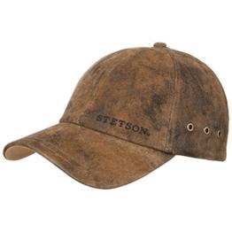 Stetson Rawlins Pigskin Cap Basecap Kappe Baseballcap Sommercap Basecap (One Size - braun) -