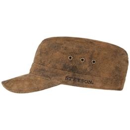 Stetson Raymore Pig Skin Armycao Schirmmütze aus Leder - braun/6 -