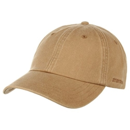 Stetson Rector Basecap Cap Baseballcap Sonnenschutz-Cap Sonnencap Sommecap Baumwollcap Kappe Baumwollcap Freizeitcap (One Size - beige) -