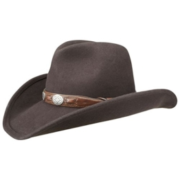 Stetson Roy Wollfilz Cowboyhut Wollfilzhut Rodeohut (L/58-59 - braun) -