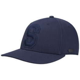 Stetson Shafter College Basecap Baseballcap Cap Kappe Sommercap Baumwollcap Sonnencap Sommercap Sonnenschutz-Cap (One Size - blau) -