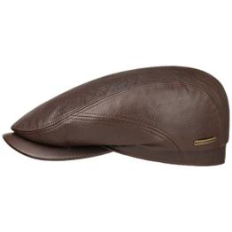 Stetson Soft Lambskin Ivy Cap Schirmmütze Flatcap Mütze Ledermütze Ledercap Wintermütze Schirmmütze Flatcap (56 cm - braun) -