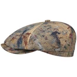 Stetson Splashes 6-Panel Flatcap Schirmmütze Cap Baumwollcap mit UV-Schutz Sonnencap Sommermütze katoenen cap flat hat (M/56-57 - bunt) -