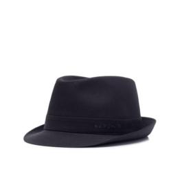 Stetson Teton Trilby Hut Stoffhut aus Baumwolle - schwarz 55 -