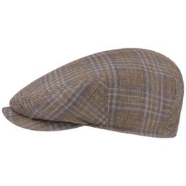 Stetson Virgin Wool Silk Flatcap Schirmmütze Sommercap Sonnencap Sommermütze Herrencap Cap Kappe Schiebermütze Schirmmütze (59 cm - braun) -