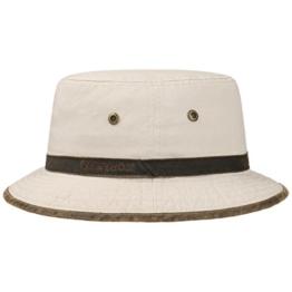 Stetson Washed UV-Schutz Bucket Hat Fischerhut Hut Baumwollhut Sonnenhut Sonnenhut Baumwollhut (L/58-59 - beige) -