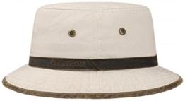 Stetson Washed UV-Schutz Bucket Hat Fischerhut Hut Baumwollhut Sonnenhut Sonnenhut Baumwollhut (XL/60-61 - beige) -