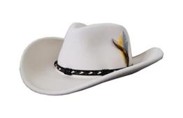 Stetson Weiß AMASA Westernhut, Cowboyhut Hut Original, Farbe:Weiß;Größe:S -