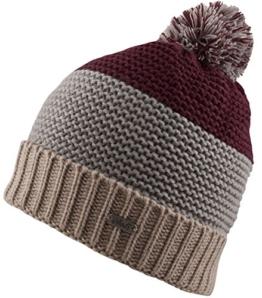 Strick Mütze mit Innenfleece - Herren- Damenmütze Strickmütze mit Bommel (Hellgrau/beige) -