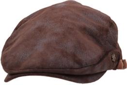 sujii UNCLE SAM Faux Leather Flat Cap Cabbie Hat Golfer Hunter Cap Schiebermütze Chauffeurmütze Schirmmütze Schildmmütze Golfermütze Kappe Hut, XL size/Dark Brown -