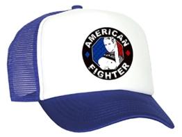 Tedd Haze Mesh Cap - American Fighter blau -