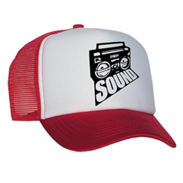 Tedd Haze Mesh Cap - Music Sound / red -
