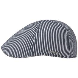Texas Hickory Stripe Flatcap Schirmmütze Sommercap Sonnencap Sommermütze Herrencap Cap Kappe Stetson (M/56-57 - blau) -
