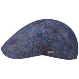Texas Paisley Flatcap Schirmmütze Sommercap Sonnencap Sommermütze Herrencap Cap Kappe Stetson Schirmmütze Baumwollcap (M/56-57 - blau) -