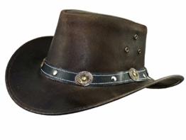 Thor Equine Kinder - Lederhut Cowboyhut Westernhut, Warenda Junior, Braun, XXS-XS XS -