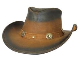 Thor Equine Lederhut Cowboyhut Westernhut, Midland Two Tone, S-XL S -