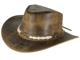 Thor Equine Lederhut Cowboyhut Westernhut, Sandover, S-XL XL -