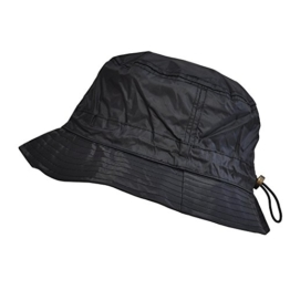 Toutacoo, Regenhut Wasserdicht aus Nylon - Einstellbar 01-Schwarz -