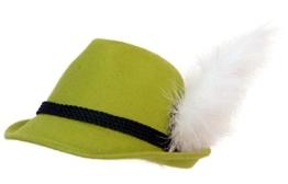 Trachtenhut apfelgrün mit Adlerflaum (Imitat) 59 -