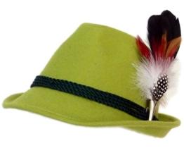 Trachtenhut apfelgrün mit edler kleiner Feder 59 -