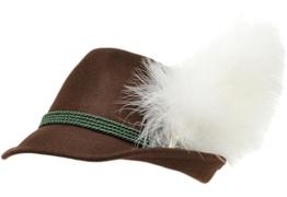 Trachtenhut braun mit Adlerflaum (Imitat) 58 -