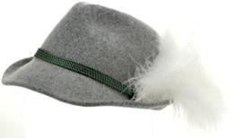 Trachtenhut grau mit Adlerflaum (Imitat) 55 -