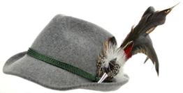 Trachtenhut grau mit edler großer Feder 59 -