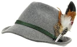 Trachtenhut grau mit edler kleiner Feder 59 -