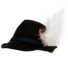 Trachtenhut grün mit Adlerflaum (Imitat) 59 -