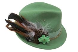 Trachtenhut Lind mit Federn und vergoldeter Borte Größenverstellbar -