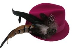 Trachtenhut Magneta mit Federn und Brosche Größenverstellbar -
