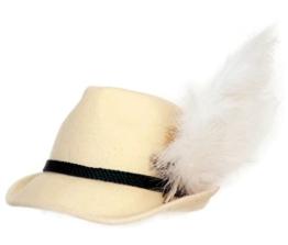 Trachtenhut naturweiß mit Adlerflaum (Imitat) 59 -