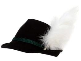 Trachtenhut schwarz mit Adlerflaum (Imitat) 55 -