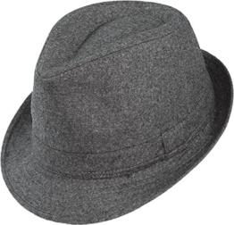 Trilby Hut in schwarz oder grau, Kopfgröße:M;Farben:dunkelgrau -