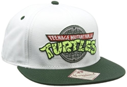 Turtles Snap Back Cap - Logo, Weiss/Grün -