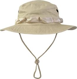US GI Boonie Hat US Buschhut Safari Hut S-XL Farbe Beige Größe L -