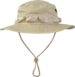 US GI Boonie Hat US Buschhut Safari Hut S-XL Farbe Beige Größe S -