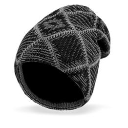 Vbiger Strickmütze Herren Mütze Skimütze Unisex Beanie Mütze Warme Mütze Winter Mütze für Outdoor mit Fleecefutter -