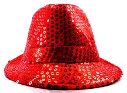 viele LED Party Hüte LED Pailletten Hut mit LED Lichtern Party LED Hüte (rot) -
