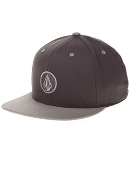 Volcom Herren Schildmütze 110 Snapback, Dark Grey, One Size, D5541450DGR -