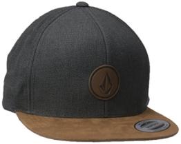 Volcom Unisex Quarter Fabric Cap Baseballmütze Snapback Grau Schildmütze, Mud, One Size -