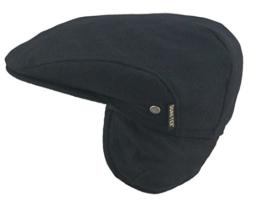 Wegener Goretex Flatcap mit Ohrenklappen schwarz 54 -