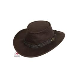 Westernwear-Shop Lederhut Roo Walkabout brown, Farbe: braun, Größe: XL (61-62 cm) -