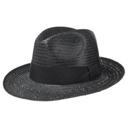 White Mountain Strohhut (Bogarthut) mit Ripsband, schöner Hut für den Sommer, Hut in Weiß oder Schwarz, Sonnenhut in verschiedenen Größen - perfekt für den Urlaub oder daheim im Garten -