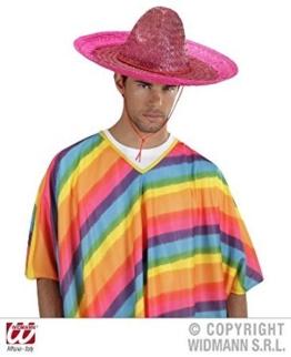 Widmann 1428G - Rosa mexikanischer Sombrero für Erwachsene -