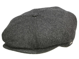 Wigens Gert Ballonmütze Schirmmütze mit Ohrenklappen aus Wolle - dark grey melange 63 -