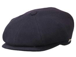 Wigens Gert Ballonmütze Schirmmütze mit Ohrenklappen aus Wolle - dark blue 63 -