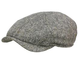 Wigens Newsboy slim cap 110215 Ballonmütze Schirmmütze Newsboy Cap - Dark Grey Melange 55 -